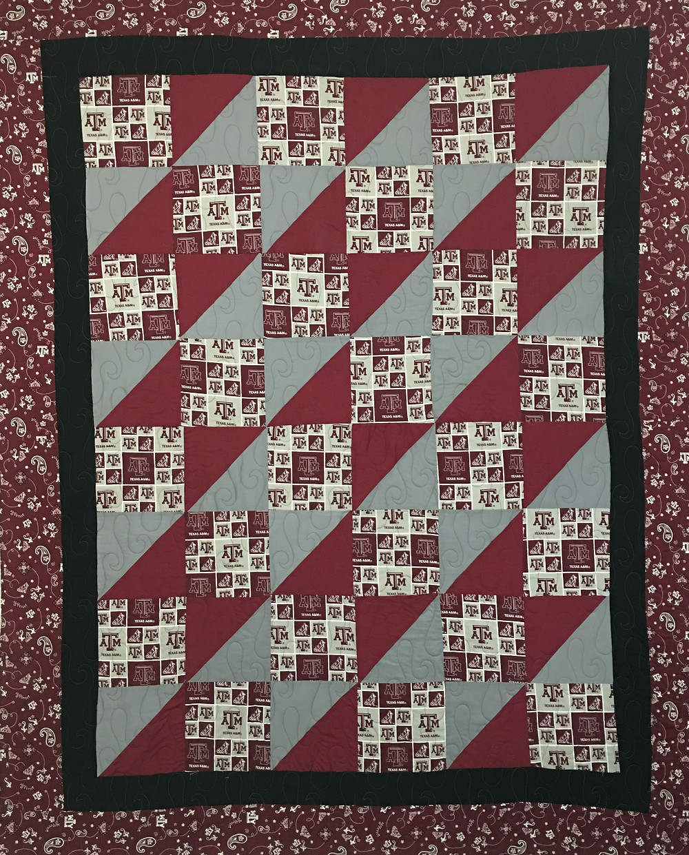 Texas A and M College Quilt by Jefferson Sutton