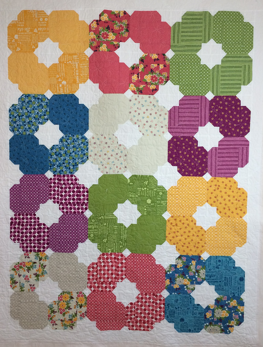 meadow bloom quilt in bursting color