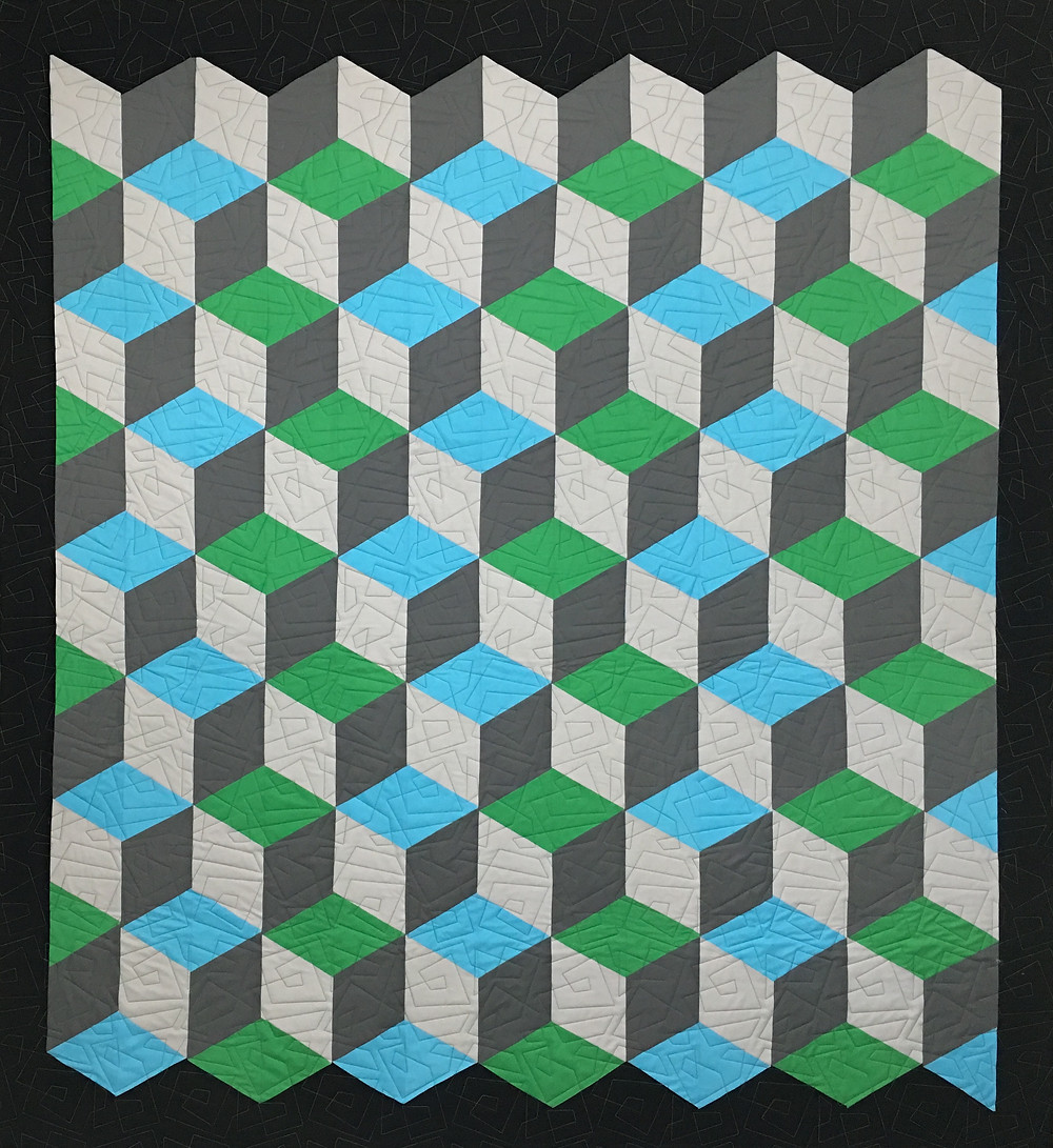 Rhombus quilt by Cindy Lovelace