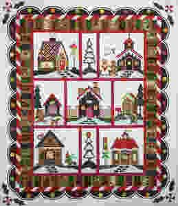 Gingerbread Village Quilt by Liz Zoch