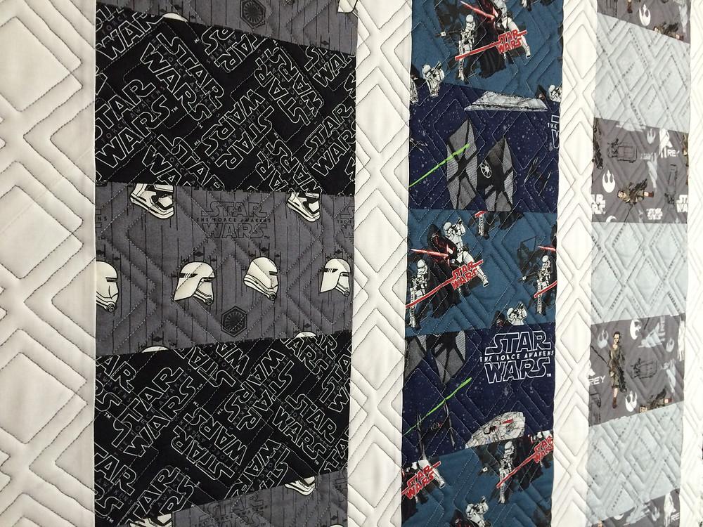 Star Wars panels with Darth Vader