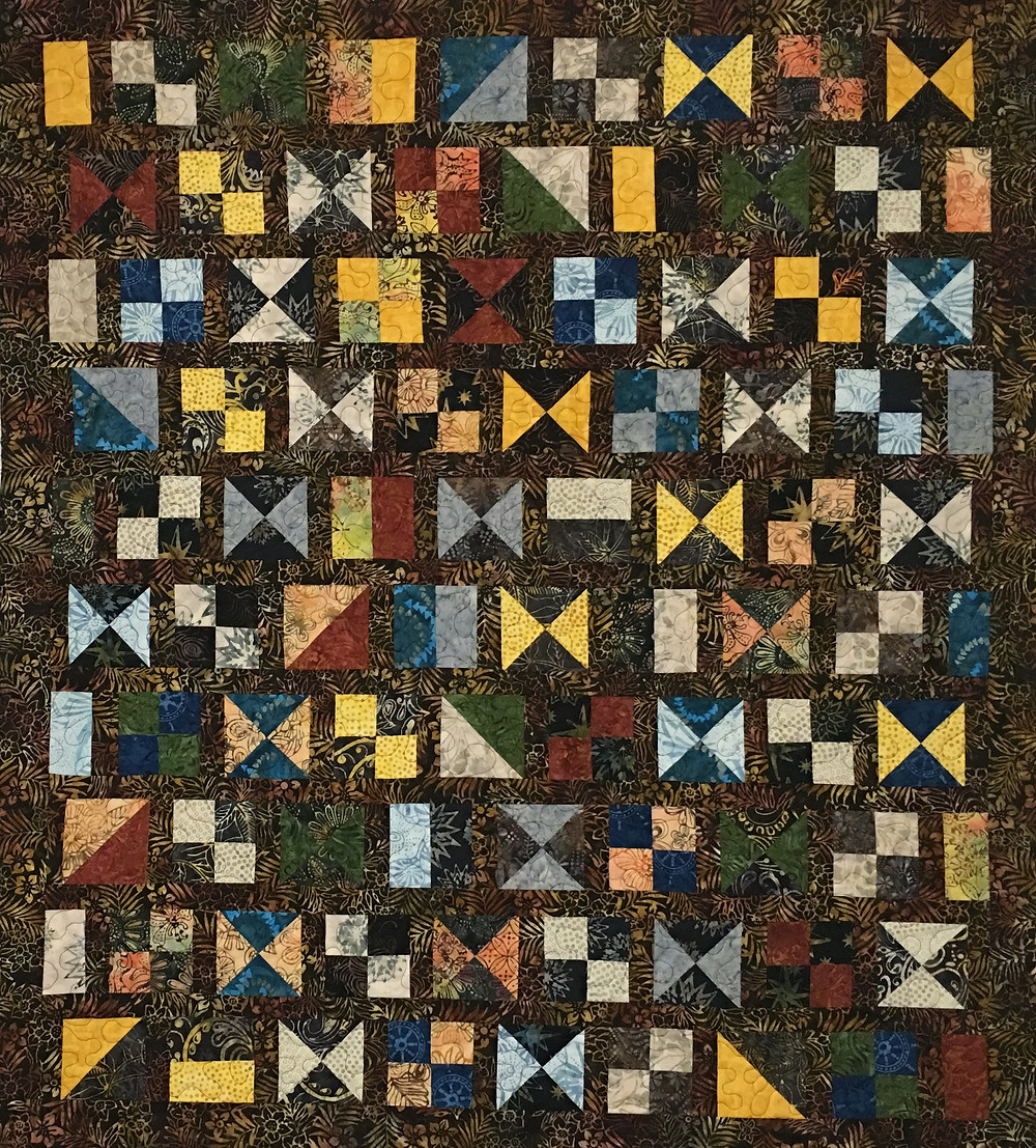Charm Pack Hourglass Quilt by Kathleen Kurdziel
