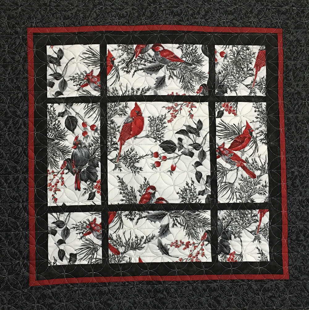 Cardinal Wall Hanging Quilt by Sally Krebs