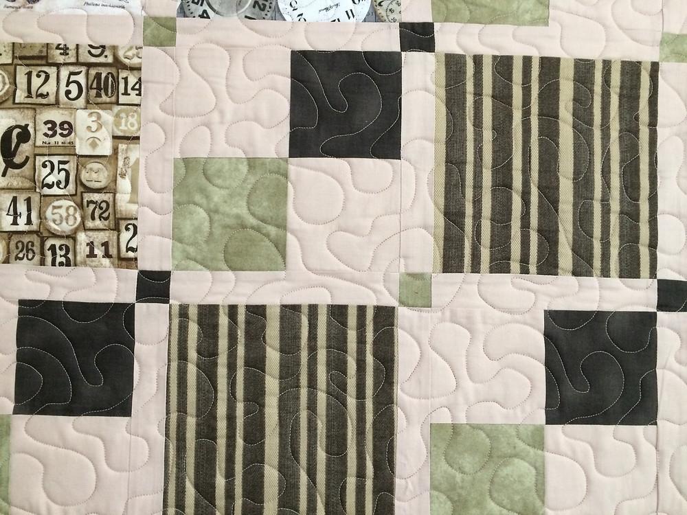 Closeup of Leanne Strum Eclectic Elements Quilt