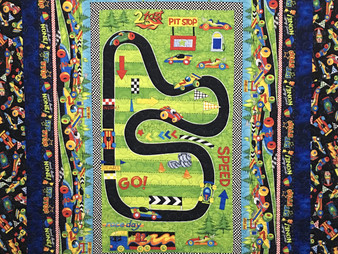 Jeri Couthen Racing Car Quilt