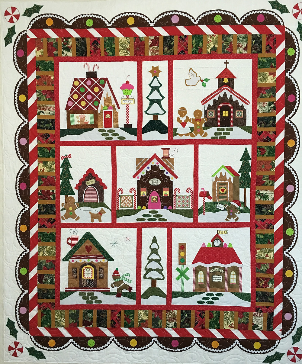 Gingerbread Village Quilt by Liz Zoch