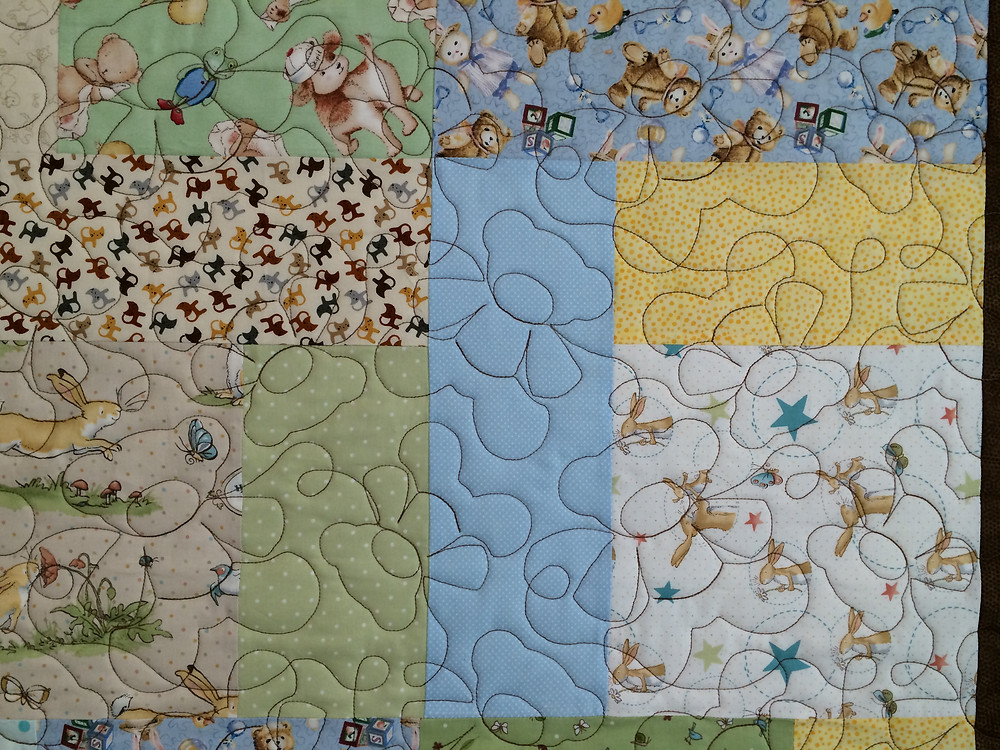 Closeup of Terri Chavira Baby Quilt for Cello Teacher