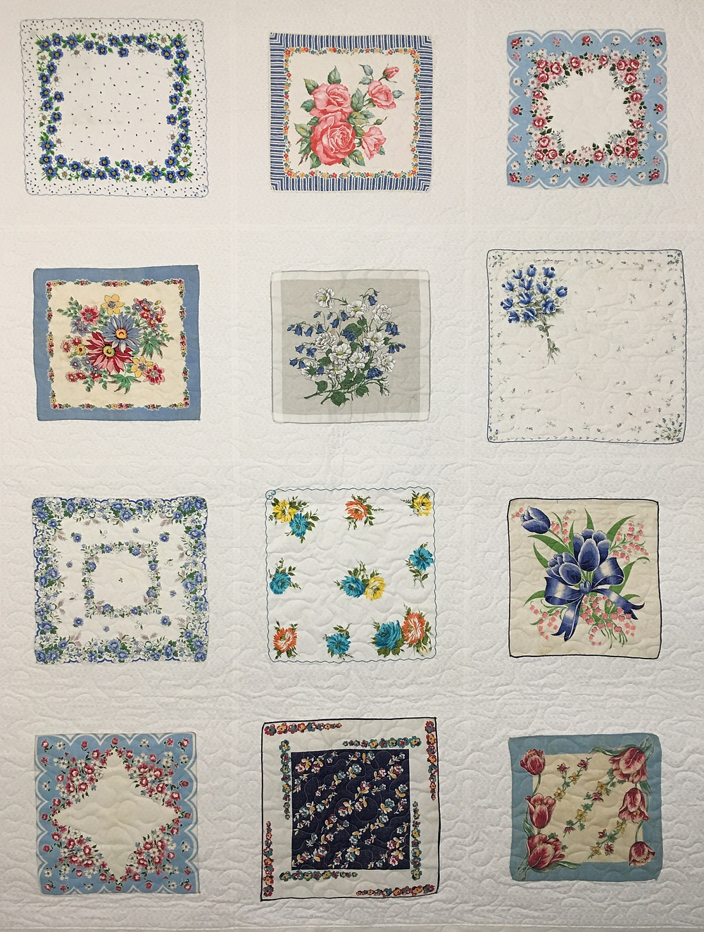 Blue Hankie Quilt by Susan Abram
