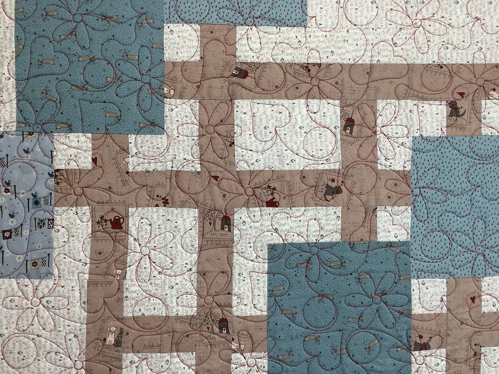 closeup of Penny Wheat Simple Pleasure Traffic Jam Quilt