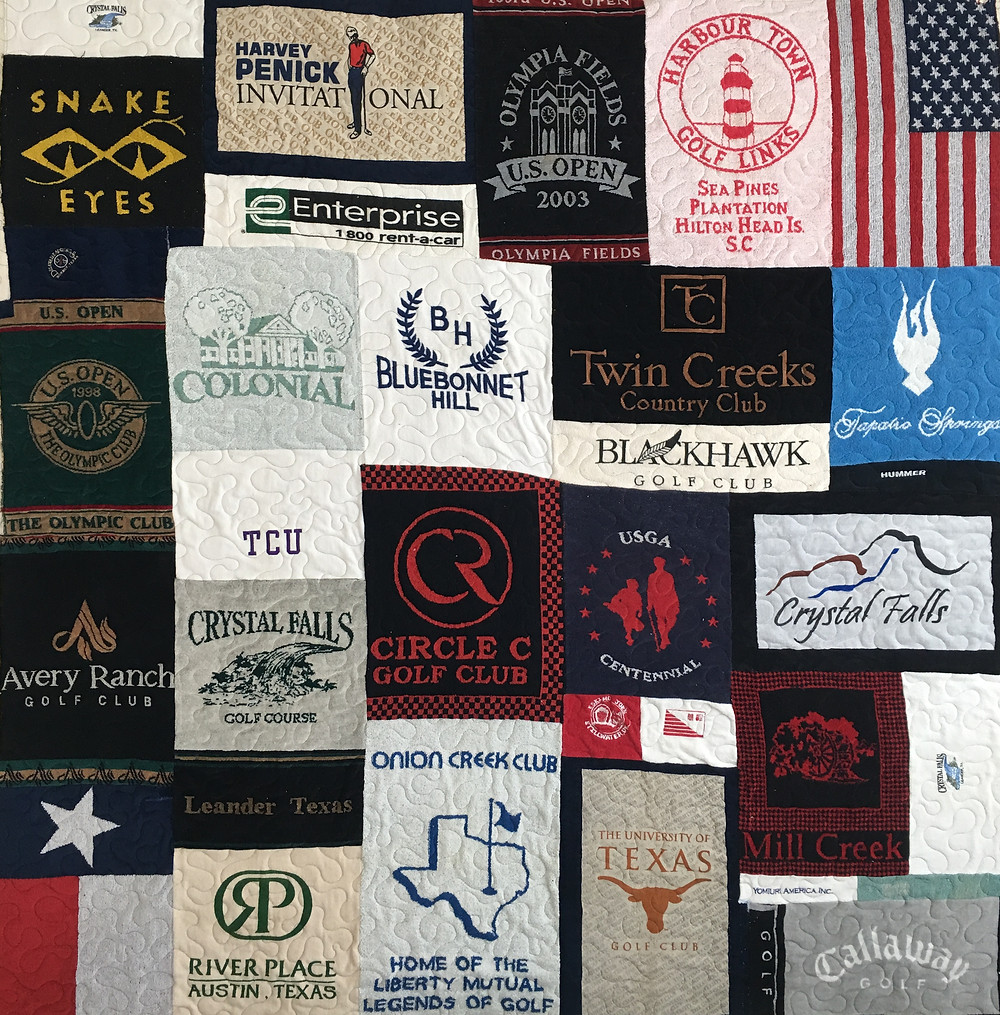 Memory quilt for Dad by Laura Joy