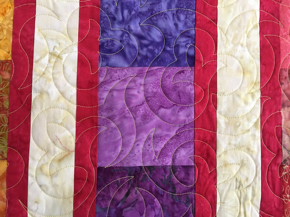 Floral Quilting Pattern on Sedona II Quilt by Peggy Krebs