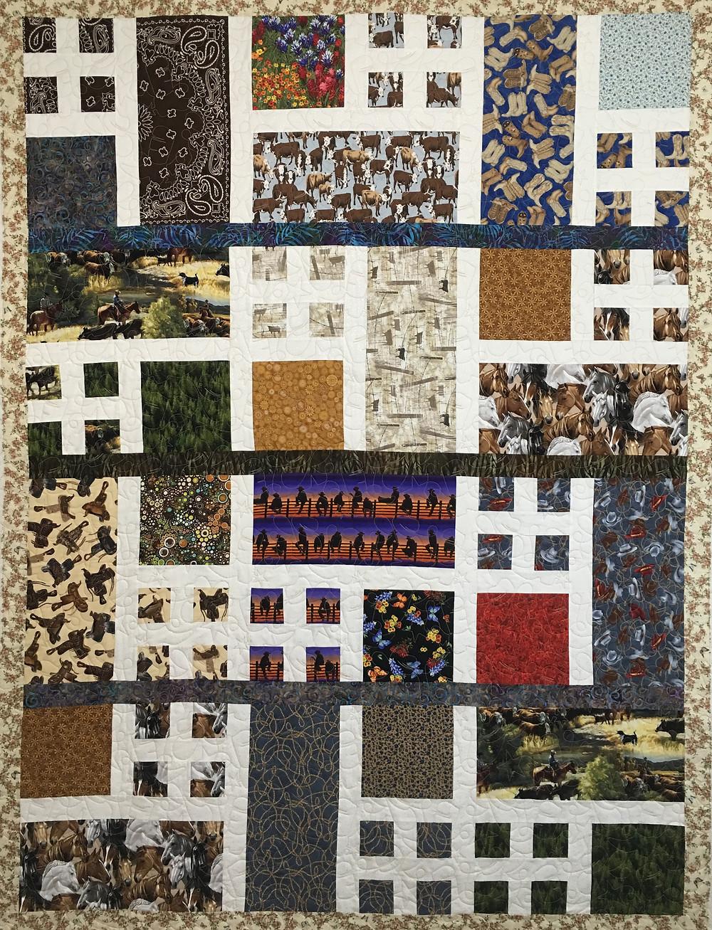 Western Theme Quilt made by Kristi Jones