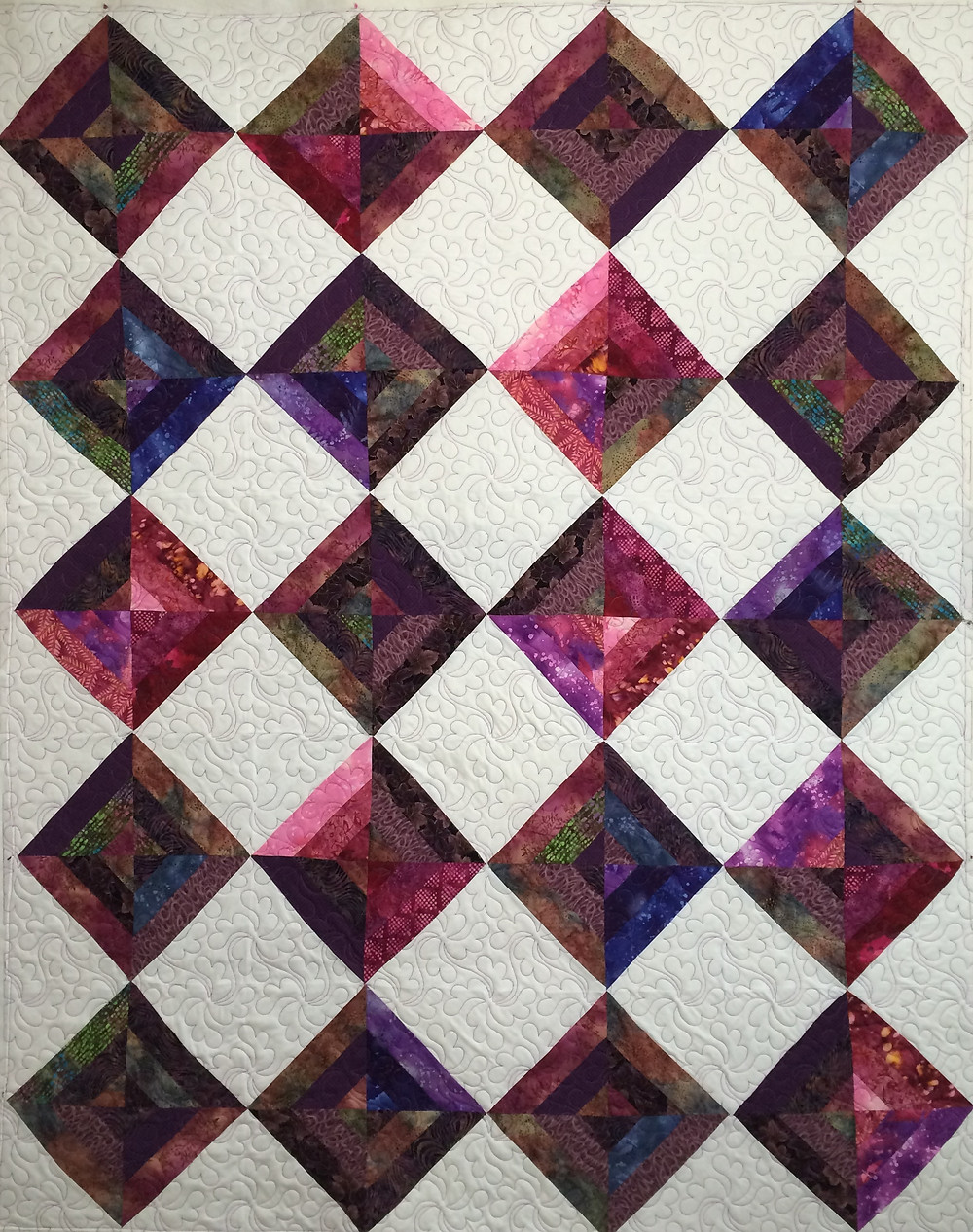 Sue Purple and White Quilt
