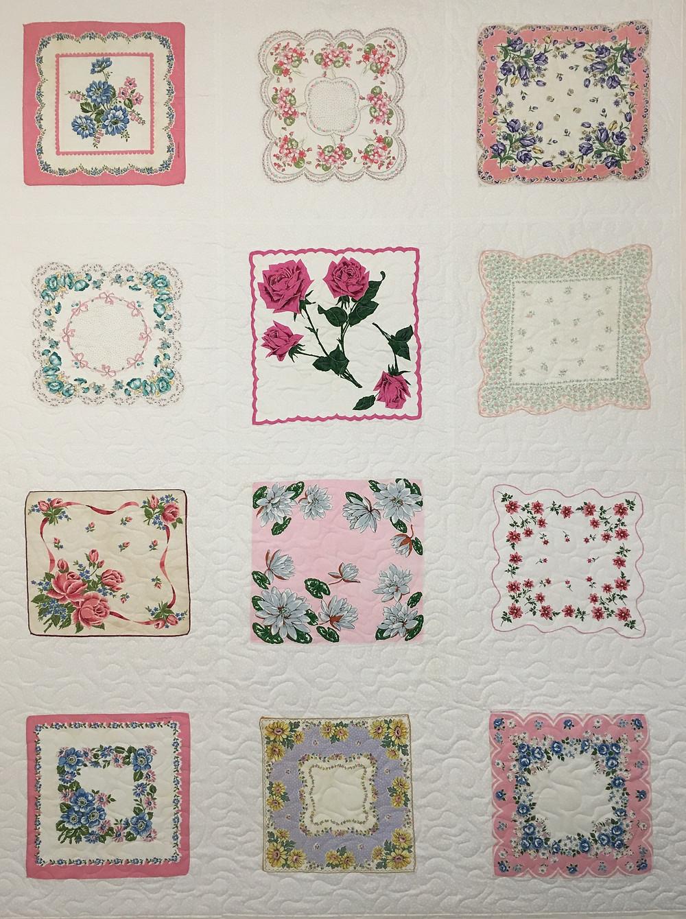 Pink Hankie Quilt by Susan Abram