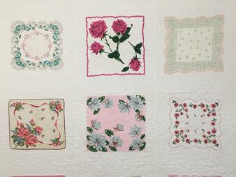 Susan Abram Pink Hankie Quilt