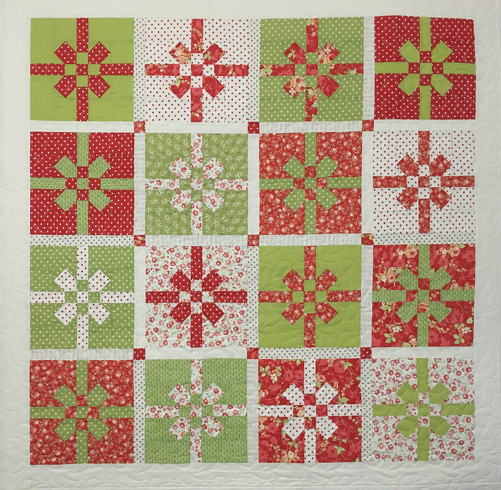 Christmas Bow Quilt by Deb Taylor