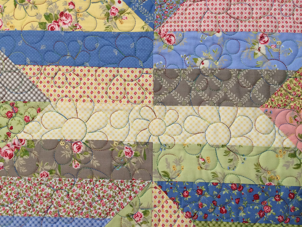 close up of Nova Birchfield Windermere Quilt