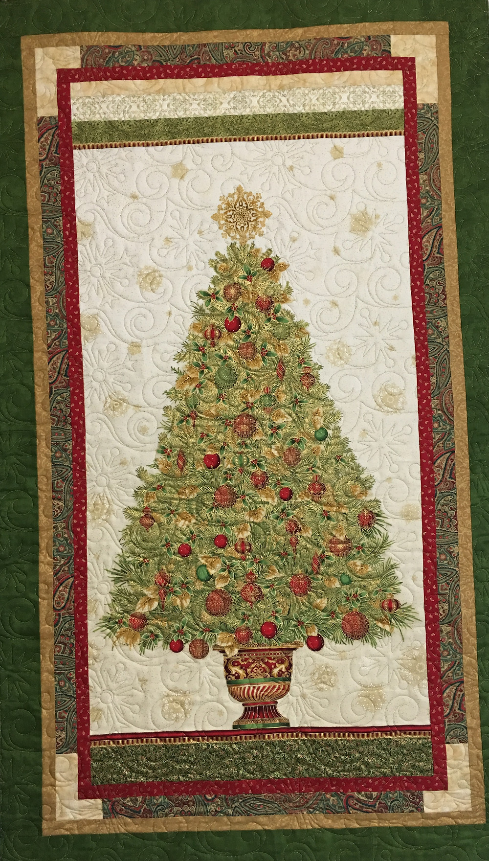 Christmas Tree Wall Quilt by Sally Krebs