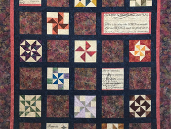 Terri Manley Sampler with Bible Verses Quilt