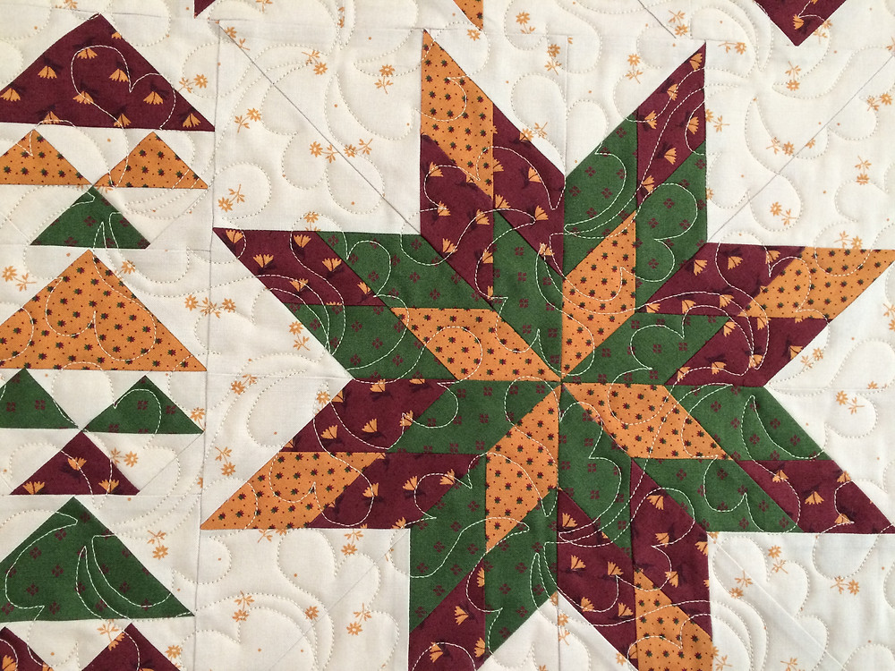 closeup of Kimberly Jolly Christmas Table Runner