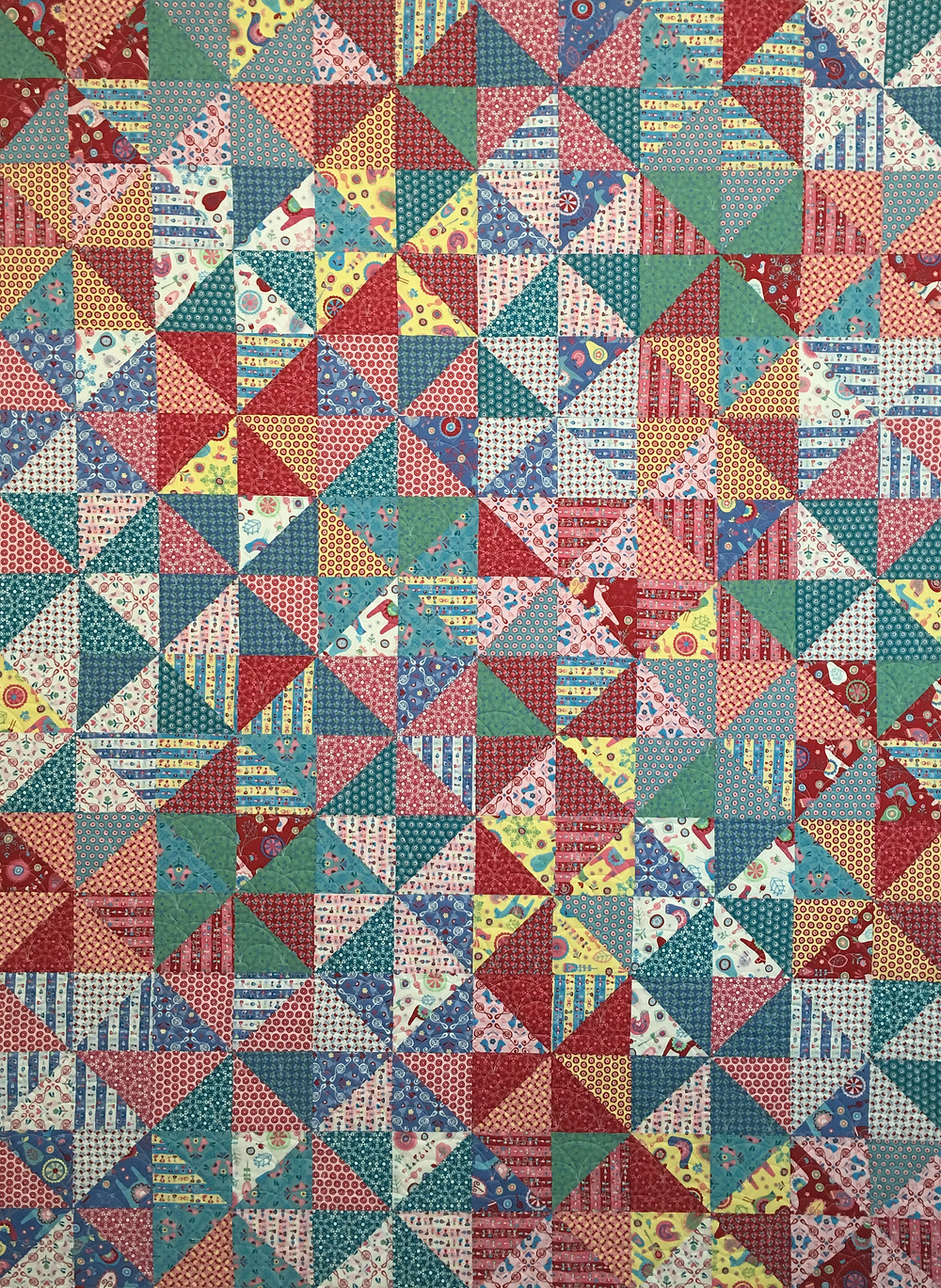 Broken Dishes quilt by Anna King