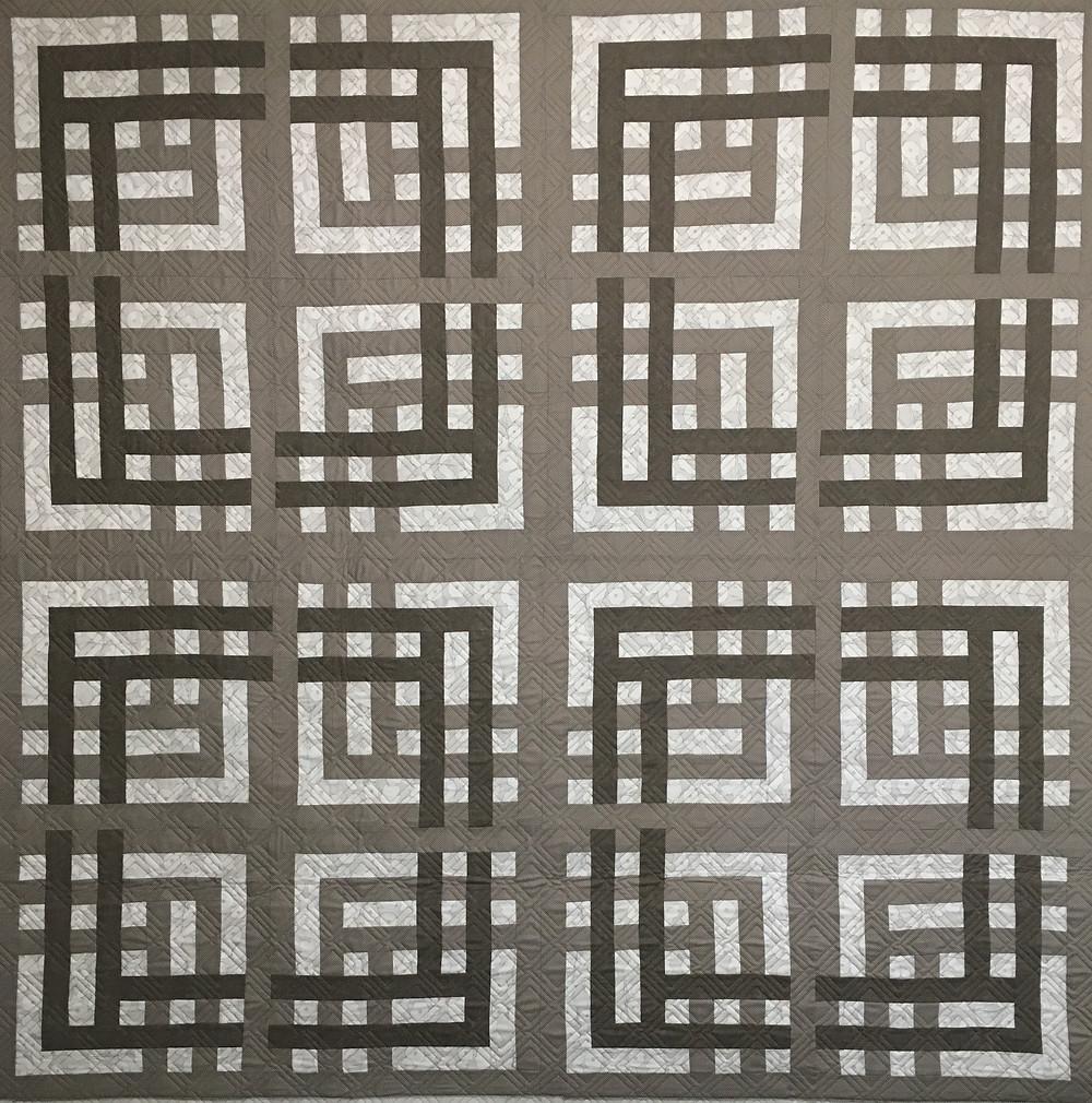 Large Weave Pattern Quilt by Jill Seward
