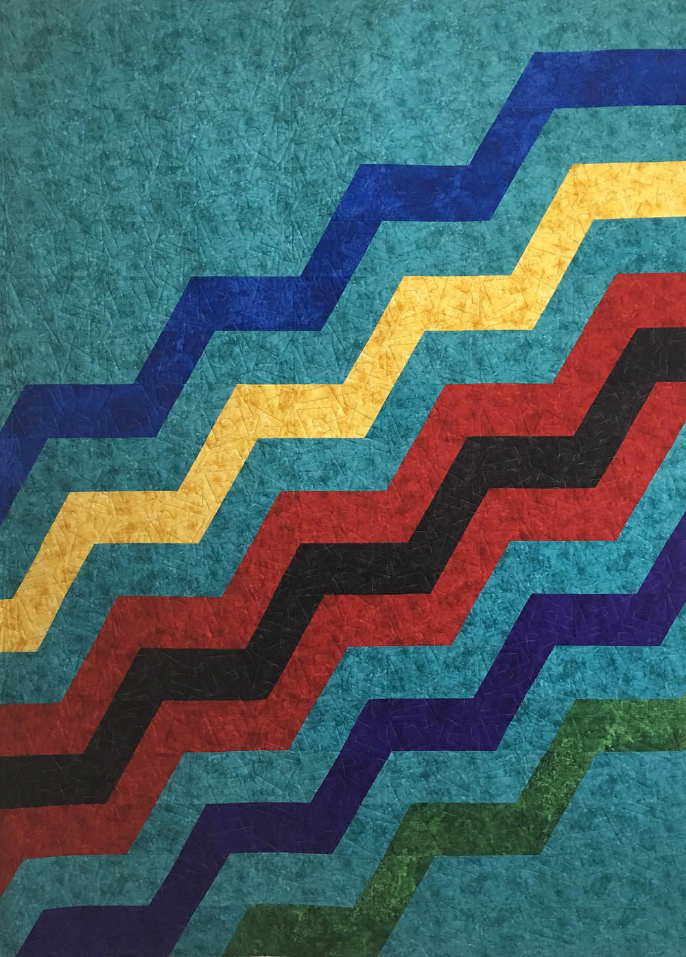 Modern Zig Zag Quilt by Sally Krebs