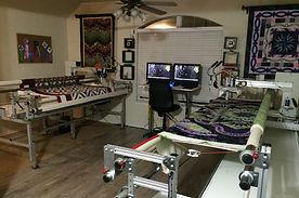 2 longarm quilting machines, MyLongarm studio