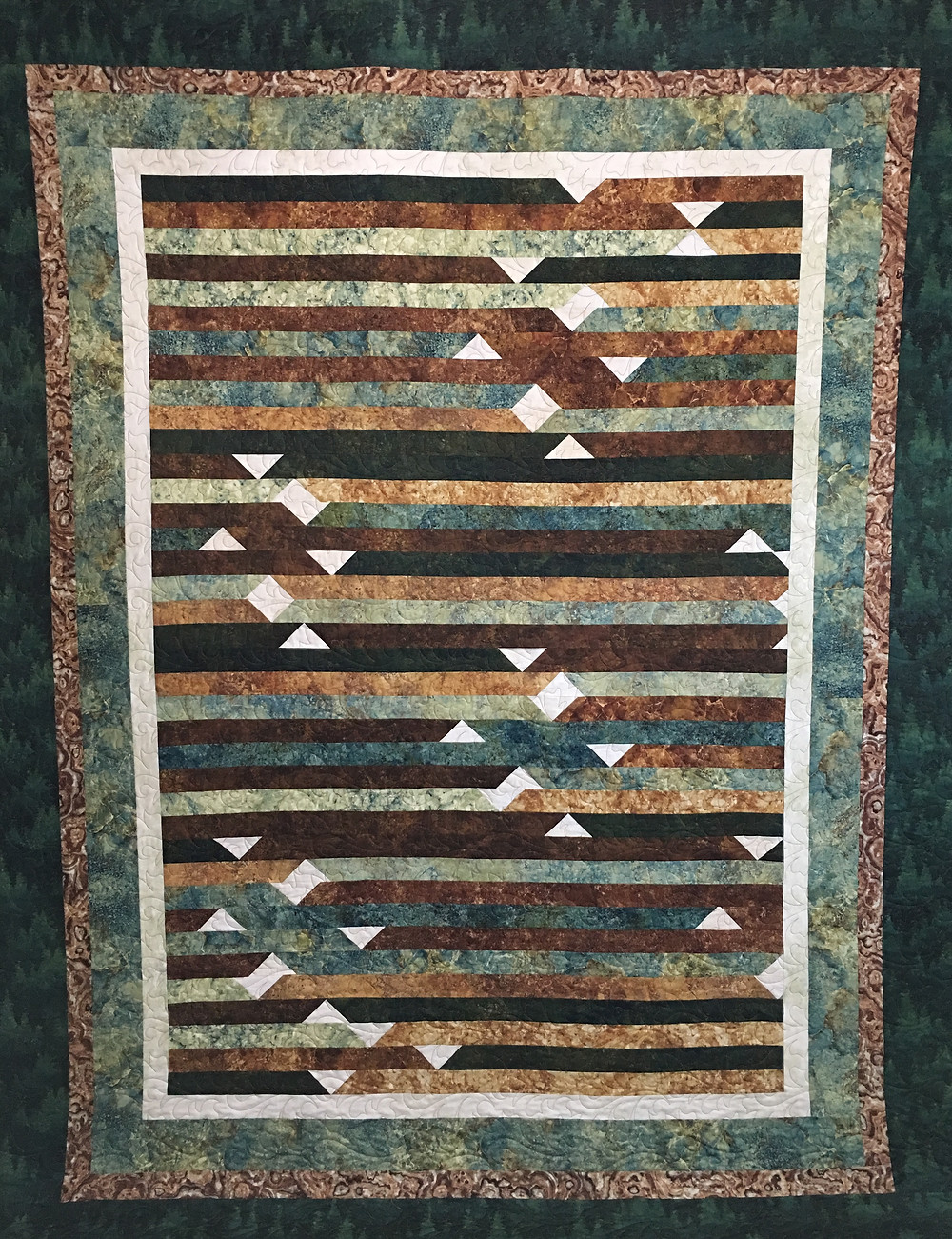 Jelly Roll Forestry Quilt by Terri Chavira