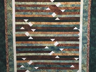 Terri Chavira Jelly Roll Forestry Quilt
