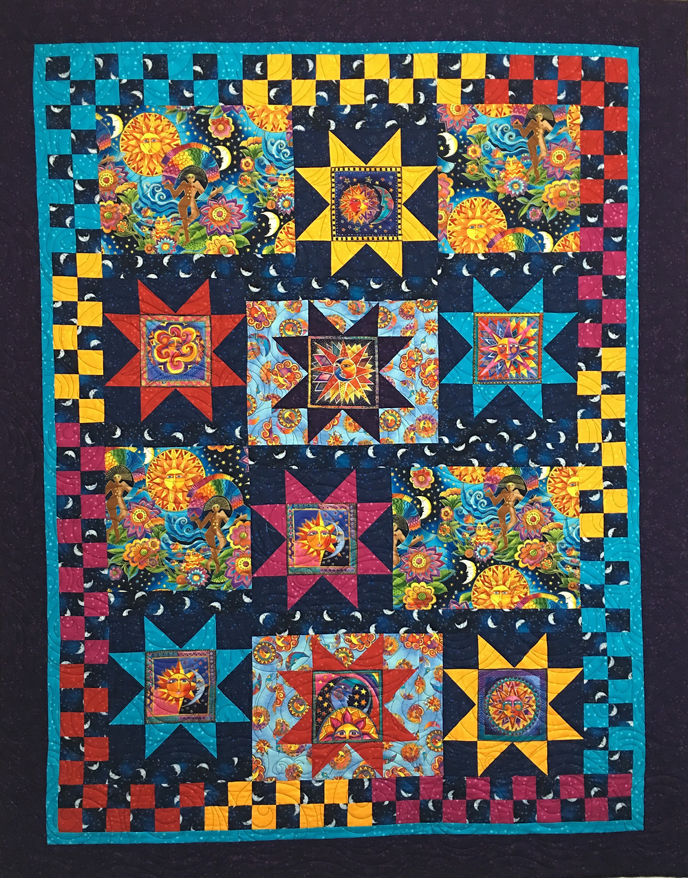 Laurel Burch Quilt by Shiela Stuckey