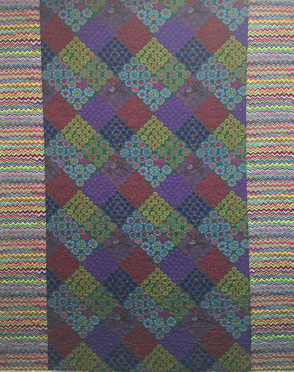 Delfina Daughter's Colorful Panel Quilt