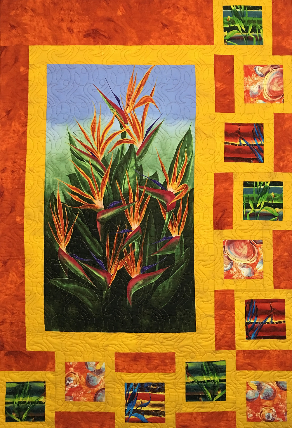 Bird of Paradise quilt by Beth Robertson