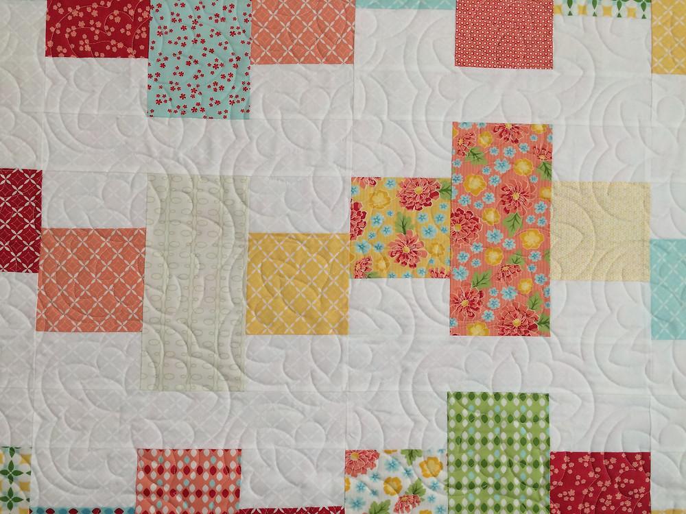 Close up of Sarah Price Summerfest Quilt