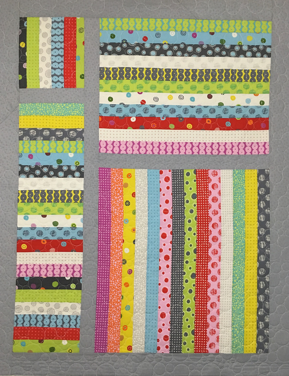 Jelly Roll Quilt for Grandbaby by Andi Hays