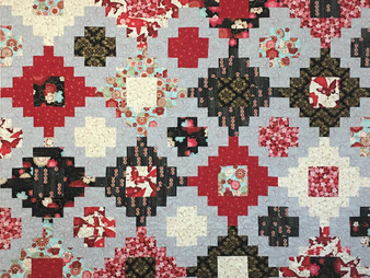 Cynthia Parra Stacked Red and Black Quilt