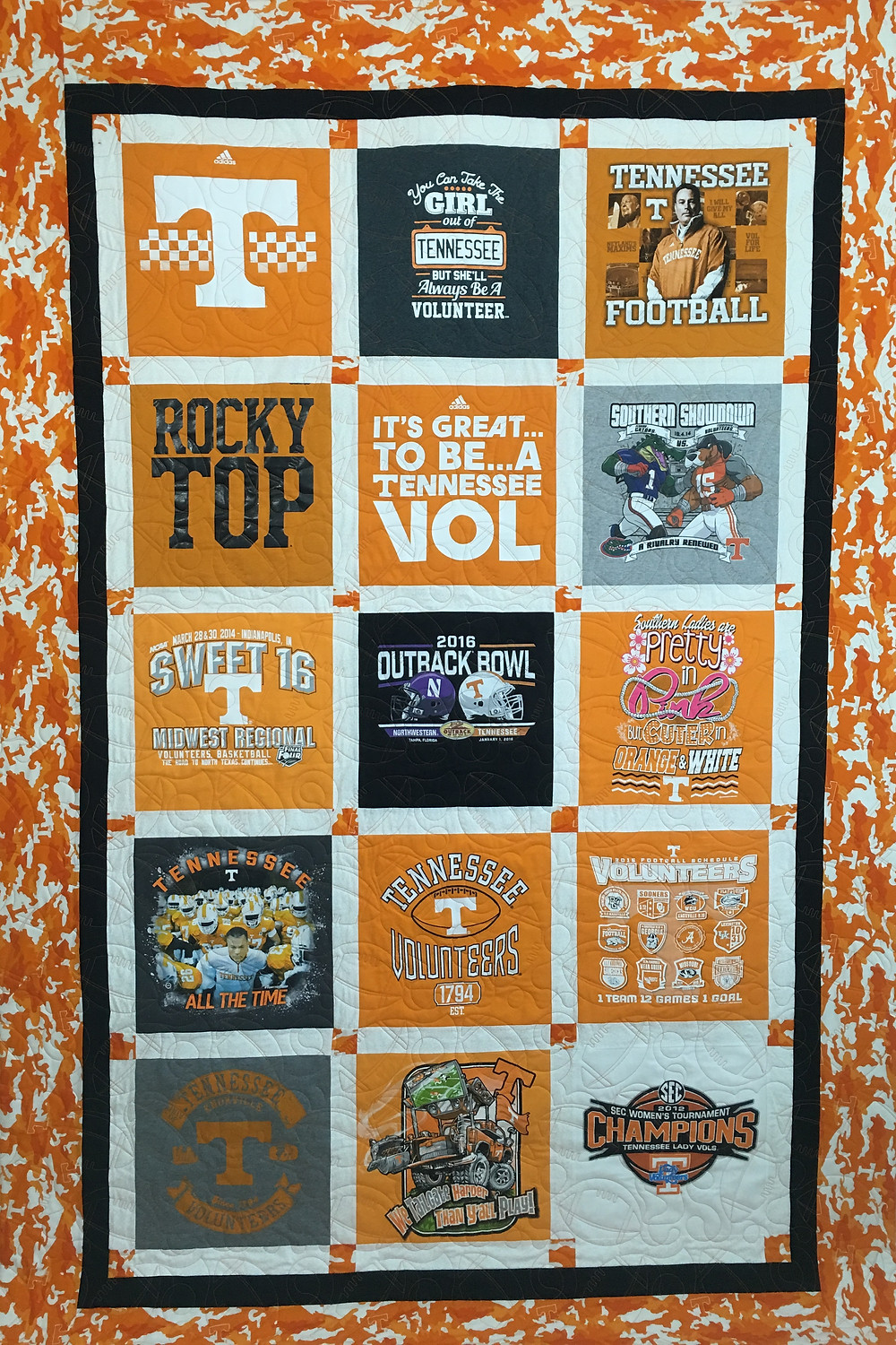 Leanne's University of Tennessee T-Shirt Quilt