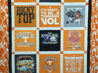 Leanne Strum's University of Tennessee T-Shirt Quilt