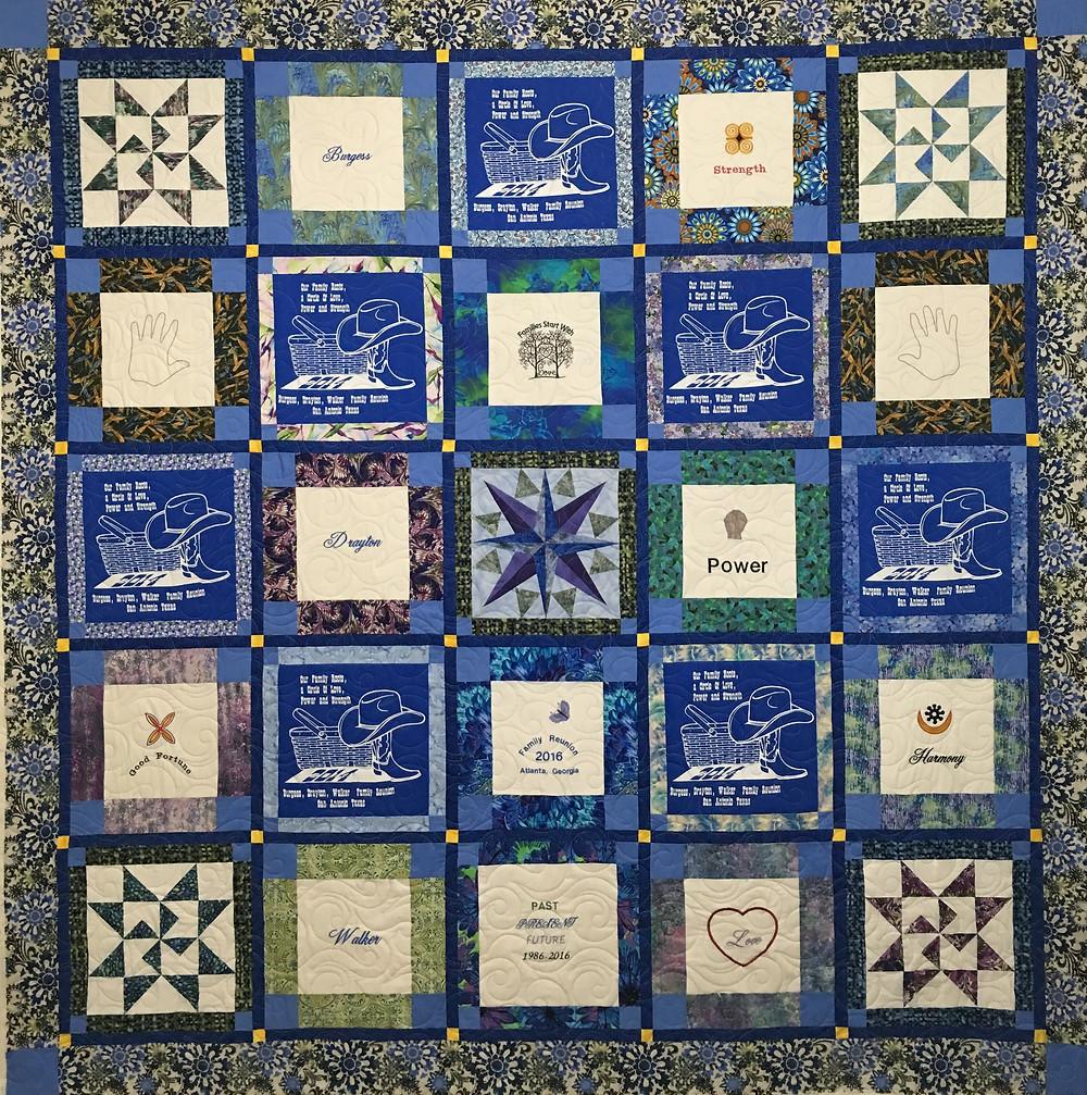 Wendy Reunion Quilt in blue