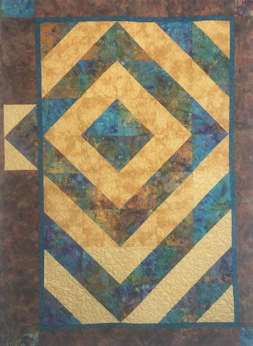Her Own Original Design Quilt by Peggy Krebs