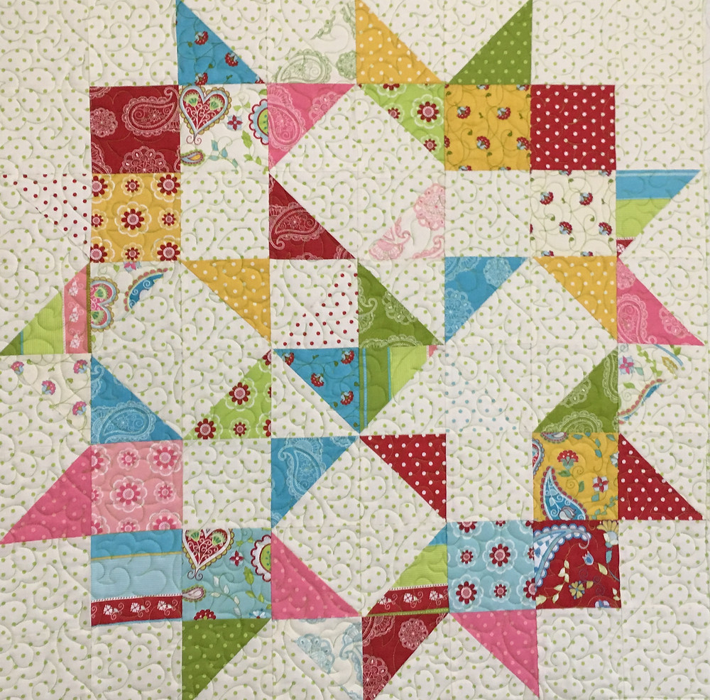 Star Wall Hanging Quilt by Nancy Nesbaum