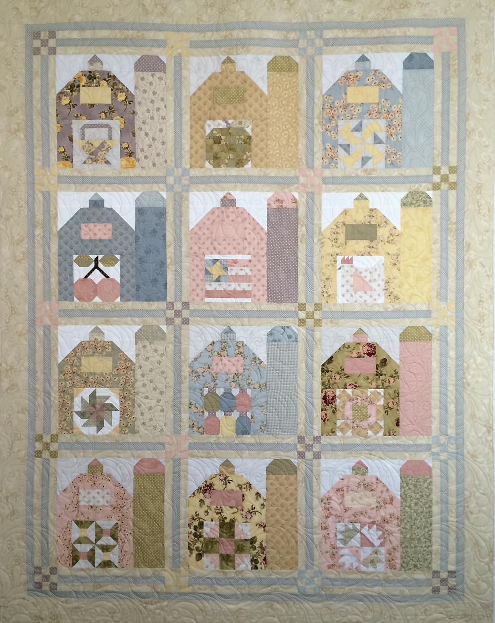 barn quilt with unique barn door blocks