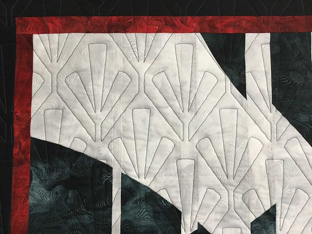 Geometric Quilting Pattern on Table Runner by Sheila Stuckey