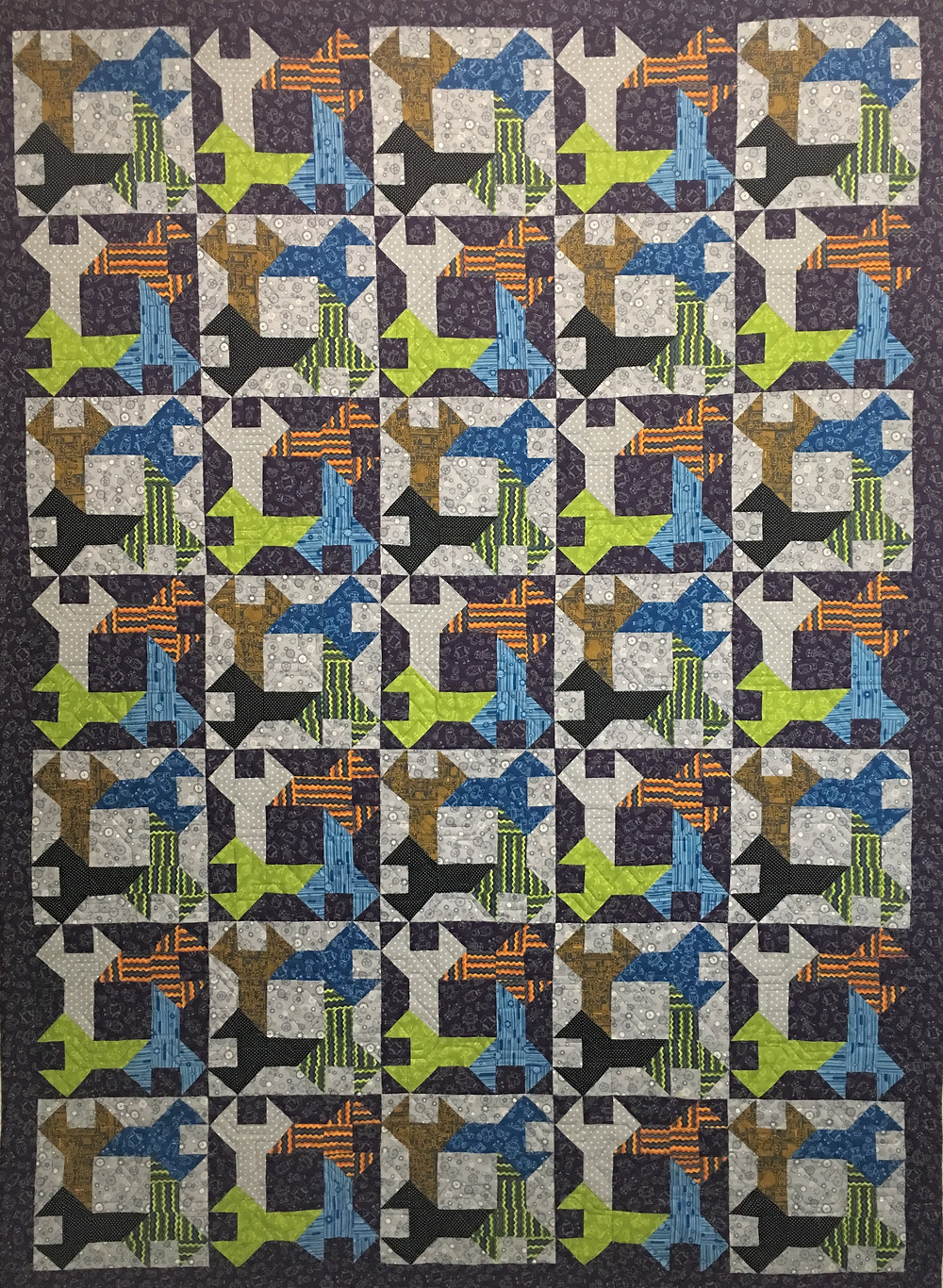 Tool Time for Dann Quilt by Cynthia Parra