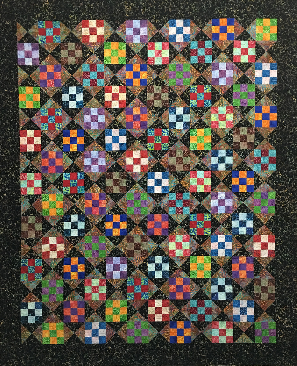 Nine Patch Play Quilt by Chris Olsen