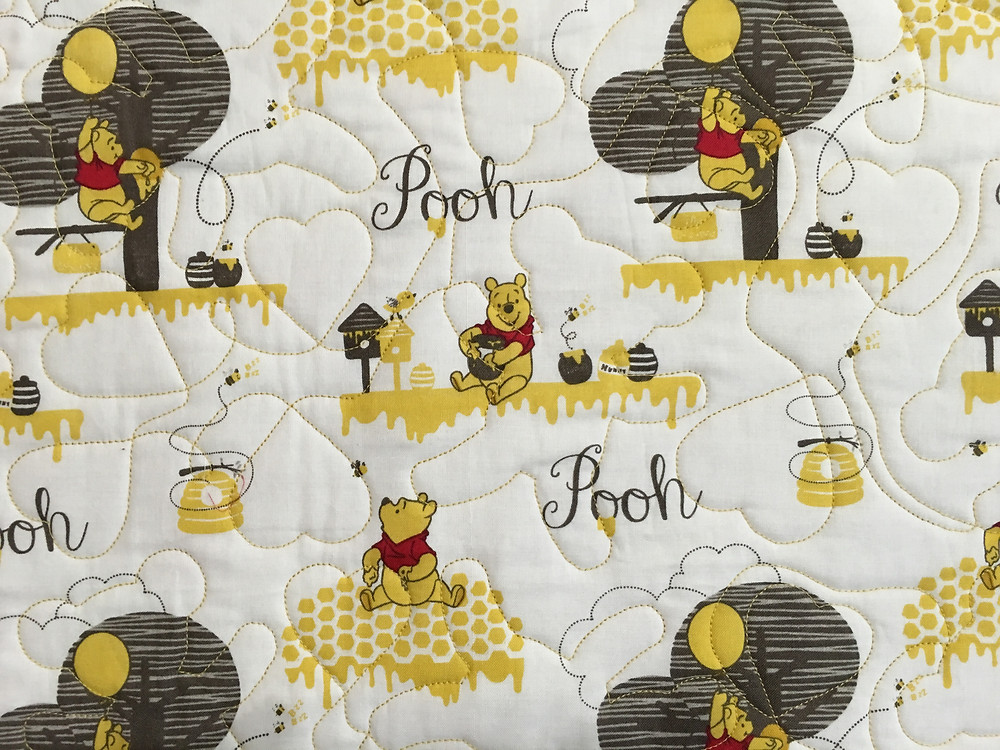 Closeup of Wendy Bell's Winnie the Pooh Quilt