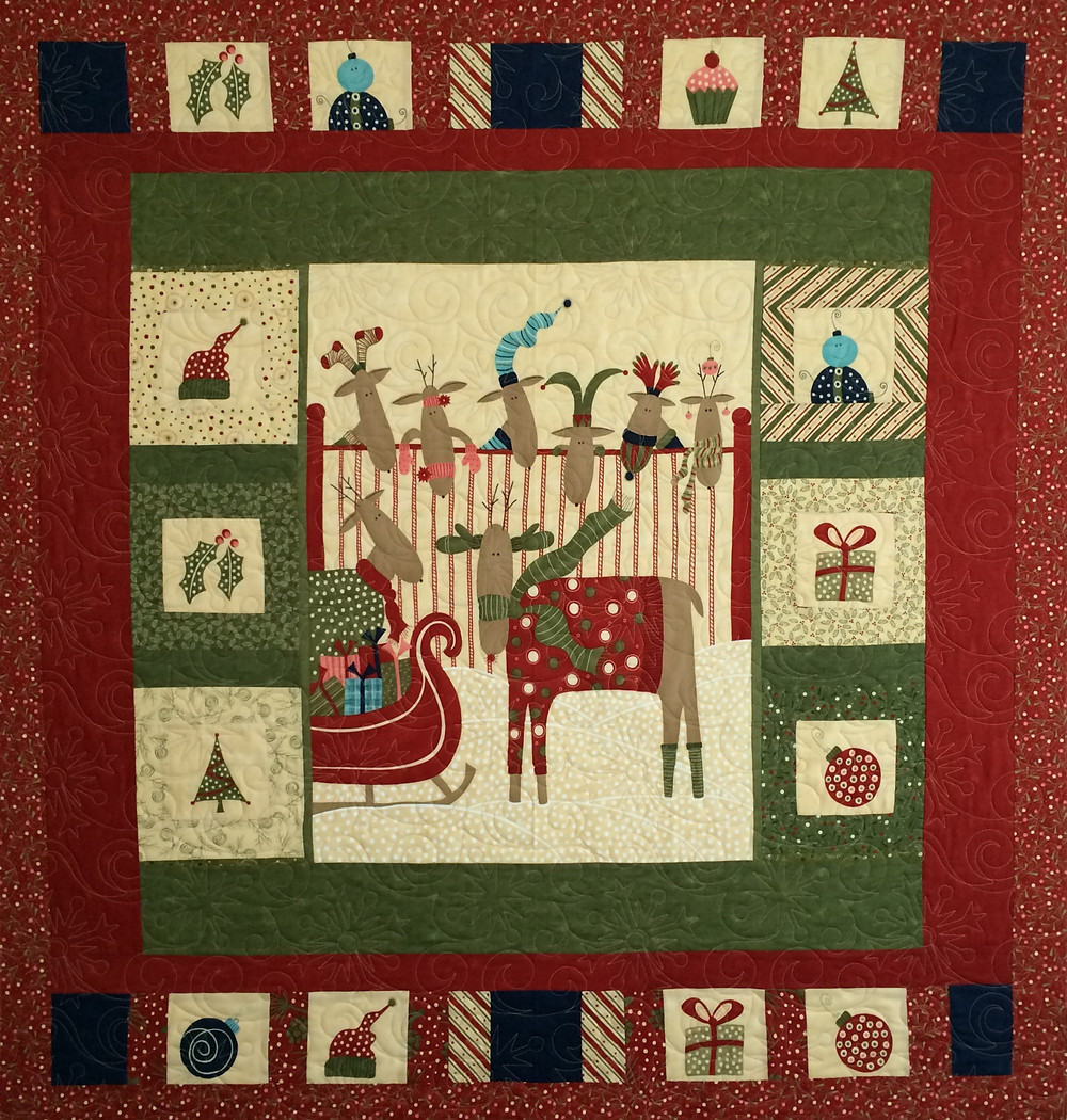 Nancy Thornton Reindeer Quilt