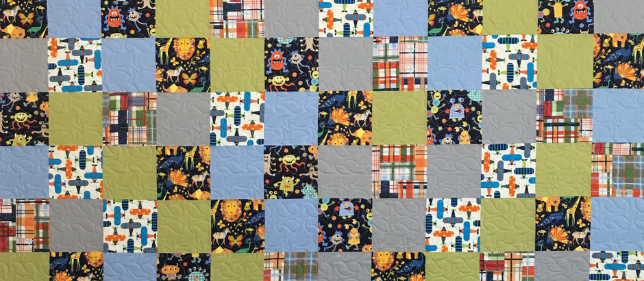 Anna King Monsters Planes and Animals Quilt