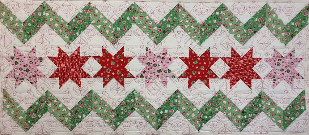 Christmas table runner for the holidays