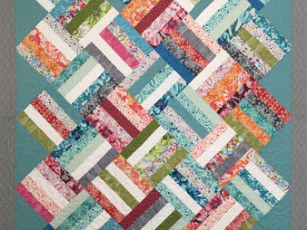 Nelda Savage Jelly Roll Square on Point Quilt